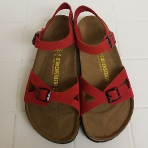 Birkenstock Red Womens Size 9 Sandals